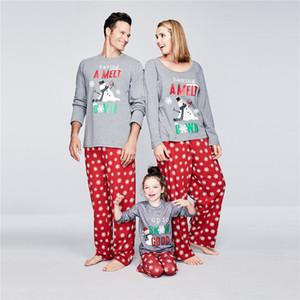 Weihnachten Familie passende Pyjamas Set Mutter und Tochter Kleidung Frauen Männer Kid Xmas Party-Club Abendessen Nachtwäsche Pj Set