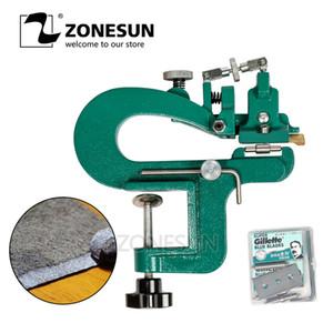 ZONESUN ER809G Ledersplitter Leder-Schälgerät-Kit Max. 35 mm Breite Skiver Vegetable Tanned Peeler