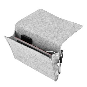Felt Multifunctional Bedside sofa Hanging Holder Storage Organizer Box Magazine Smartphone Remote Control Storage Bag Pockets