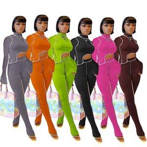 Женская одежда из двух частей Эпикировка нерегулярные балахон блуза вершины плиссированные брюки леггинсы брюки костюм моды партии длинным рукавом Костюм D8406