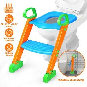 Kinder Potty Training Sitz mit Trittschemel Leiter für Kind-Kleinkind-WC-Stuhl
