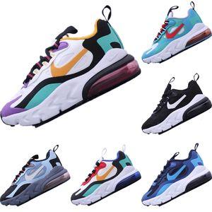 2019 React270 Bauhaus enfants Tricot respirant Chaussures de course originaux React270 Bauhaus Zoom Air et le tampon en mousse Chaussures Jogger