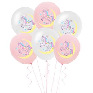 Fontes 100pcs Unicorn Balloon Aniversário do bebê da festa de casamento Duche Decoração Latex Balloon Decoração do partido