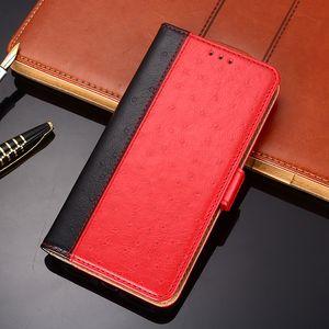 Il caso di vibrazione del cuoio del telefono struzzo dell'unità di elaborazione per OPPO RENO3 Pro A91 R9S A37 A57 A59 R11 R11S A73 A83 Phone Bag per OPPO R15 PRO F7 A3 A5 Realme 1 R17