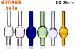 OD25mm Colorful Glass Bubble Carb Cap round ball dome for Quartz banger glass water pipe dab oil rig free shipping