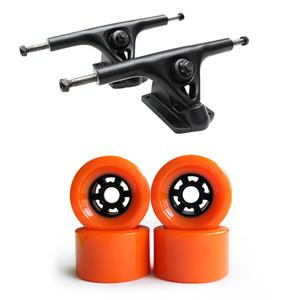 Skateboard Longboard 7 pollici Trucks 83 * 52mm Ruote Set titolari Kit staffe in lega di magnesio 2 * Camion + 4 * Ruote