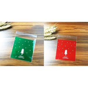 MagiDeal 100pcs sacchetto regalo di Natale del biscotto Cellophane Fudge Candy autoadesivo