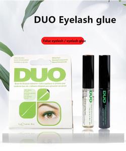 2020 arrivée Duo Cils Adhésifs Cils colle brosse sur blanc Adhésifs / clair / noir / 5 g Nouveau Packaging outil de maquillage