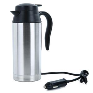 Paslanmaz Çelik 12V Elektrikli Kettle 750ml In-Car Travel Seyahat Kahve Çay Isıtmalı Mug Motorlu Sıcak Su İçin Araç Veya Kamyon Kullanımı