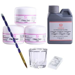 COSCELIA Acrylic Nail Kit Maniküre-Set Maniküre- 75 / 120ML Acrylflüssigkeit Set für Nagel Alle DIY Werkzeuge Pinsel