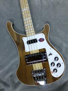 NOVO 4003W Natural Walnut Baixo TRANSLÚCIDO RARE WALNUT vintage 4003 ric Elétrica Bass Guitar Neck Thru Corpo Um PC Neck corpo