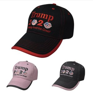 2020 Embroidered Trump 2020 Baseball Cap Unisex Adjustable Snapback Keeping America Great Embroidered Letter Flag Hat Sports Sun Hat A3021