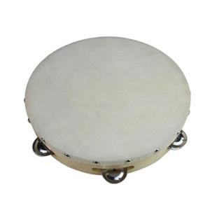 6 inches Tambourine Hand Held Tambourine Drum Bell Birch Metal Jingles Kids School Musical Toy KTV Party Percussion