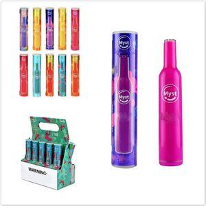 Original Myst Salz Einwegvorrichtung Pod Kit 280mAh Akku 1,6 ml Kartusche 400 Puffs Vape Pen Hot Xtra Plus-Bar Flow-BANG XL 100% Authentic