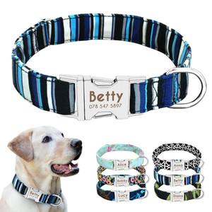 Collare di cane di nylon Personalizzato identificazione del cane modifica del collare inciso Targa del gatto dell'animale domestico Antilost per le piccole medie cani di taglia grande