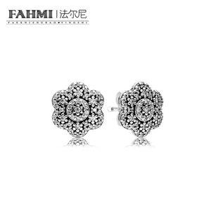 FAMHI 100% стерлингового серебра 925 пробы 1: 1 подлинный классический 290732CZ изысканные женские Свадебные серьги ювелирные изделия