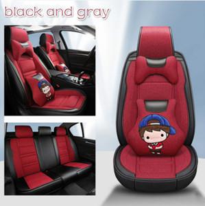 Мультфильм крышка сиденья автомобиля для Audi A3 A4 B6 A6 A5 Q7 BMW Toyota автомобиль 5 сидений интерьера защитные подушки автомобильные сиденья Capty Universal 1 набор
