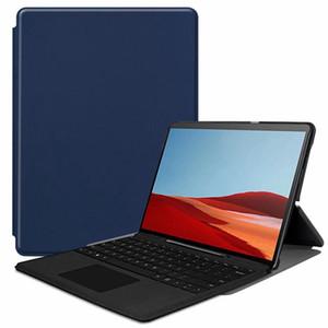 Сверхтонкий PU Книга откидная крышка чехол для Microsoft Surface Pro X 2019 13-дюймовый планшет с подставкой можно поставить клавиатуру
