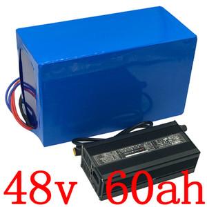 48 48V 2000W batterie 3000W batterie V 60AH 48V 60AH batterie lithium vélo électrique avec 80A BMS et chargeur 54.6V duty free