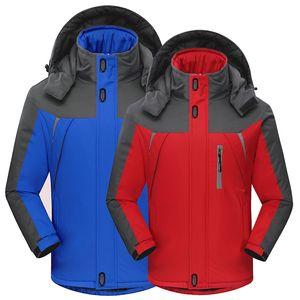 Randonnée hivernale Hoodies Épais Vestes D'escalade Unisexe En Plein Air Sportwear Imperméable Plus Taille Montagne Porter Hommes Polaire Coupe-Vent
