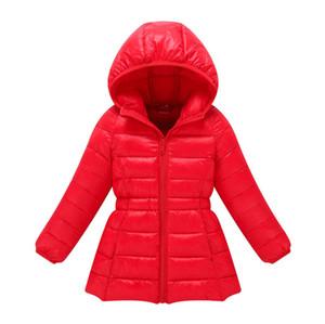 2018 최고 패션 소년 겨울 재킷 여자 가을 파카 아이 따뜻한 후드 다운 코트 착실히 보내다 어린이 더럽혀진 패딩 외투