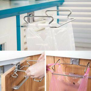 Кухня Waste Carrier Bin держатель мешка Подвесной крюк Мусор Многократное мусора Rack