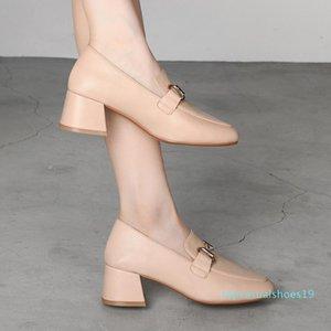 MALEMONKEY 932394 Vintage 2020 Nouveau Bureau Printemps Automne Décoration Métal Mode Haute Qualité Femmes Chaussures T19