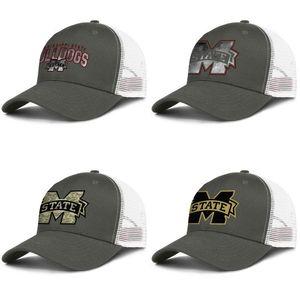 Mississippi State Bulldogs calcio uomo d'oro e logo delle donne camionista regolabile meshcap progettista vuoto alla moda personalizzato albero fondamentali