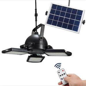 태양 광 정원 원격 제어 램프 야외 가로등 방수 가든 주차장 분할 세 헤드 조명 접는 램프