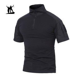Outdoor Trekking T-shirt da Uomo Caccia camicia estiva tattici militari magliette pesca Shirts Sportswear Abbigliamento manica corta Tees