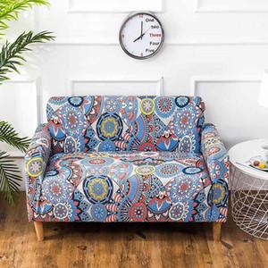 Sofá estilo moderno Tampa Spandex Elastic poliéster Imprimir Sala Couch Slipcover Chair Furniture Protector 1/2/3/4 Seater