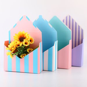 Creative flower box Envelope Flower Bag bouquet floral hand-folded gift box Valentine's Day flower boxes Flowers Paper Holder LX2370