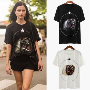 Maglietta delle ragazze di SS 2019 Maglietta della stampa di T-shirt di scimmia dei fratelli T-shirt femminile del cotone del 100% delle donne