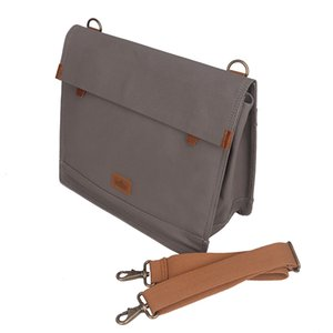 Tourbon Vintage Canvas Bike Rear Seat Pannier Bag Bicycle Carrier Messenger Bags for Cycling Water Repellent Laptop Briefcase