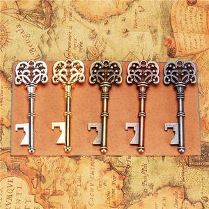 Vintage Key бутылок Античного ключ металл пиво открывалка Бронзовый Скелет брелок открывалка свадьба пользу свитер цепь Подвеска DHL