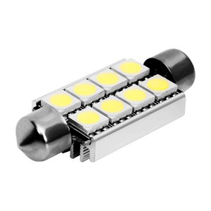 10X Festoon CAN BUS 42mm led C5W CANBUS ERROR FREE 8 SMD 5050 LED car interior light bulbs 8led Auto Reading Lights White 12V