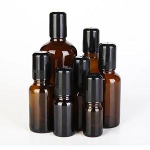 5ml 10ml 15ml 20ml 30ml 50ml 100ml Ambra Roll On Roller Bottle per oli essenziali Riutilizzabile Contenitori deodoranti per bottiglie di profumo