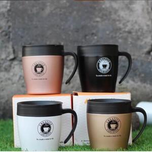 Logo personnalisé 320ml tasses à café en acier inoxydable à isolation sous vide tasse de café avec couvercle pour Bureau Cuisine
