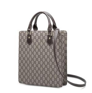 Atacado saco clássico mulheres marca impressa moda bolsa de negócios homens de couro profissional e mulheres de mão bolsa de arquivo vintage Homens Bolsa
