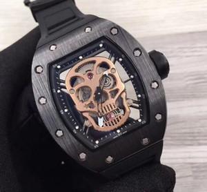 고급 패션 시계 Shantou series 보석류 052 시리즈 고무 스트랩 남성 기계식 무브먼트 자동 태엽 시계