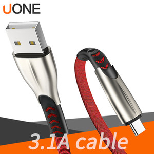 3ft 6ft 9ft Zinc Alloy Type-c cable 3.1A Fast Charging Charger Micro USB Cable Supporting data transmission for samsung Note10 s9 s8 phone
