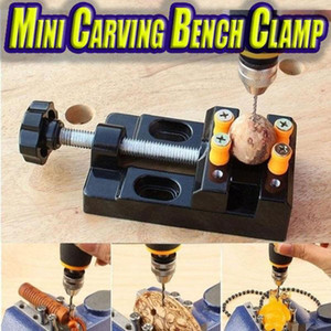 Miniature Hobby Clamp On Table Bench Vise Tool Vice Muliti-Funcational Table Vice Carving Bench Clamp Drill Press Flat #Y5