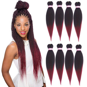 Pre Stretched Braiding Hair 20,26 Inch 5 Packs Synthetic Ombre Color Professional Braiding Hair Extensions for Crochet Braids Twist Hair