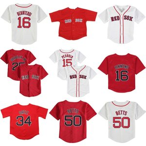 Infant Toddler baby Mookie Betts J.D. Martinez Andrew Benintendi David Ortiz Brock Holt Dustin Pedroia Red Sox Jersey stitched 01