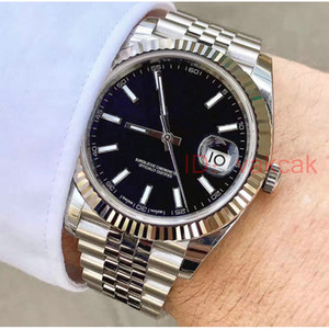 Noir Mens Watch 41mm en acier inoxydable Montres Homme Date de 2813 Mécanique Automatique Juste Président Hommes Montres-bracelets