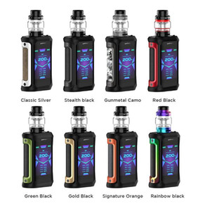 Original Geekvape Aegis X 200W TC Kit com New AS 2.0 Chipset Mod 5.5ml Cerberus Tanque Super malha x1 0.2ohm Vape Kit