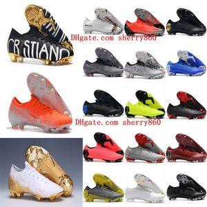 2019 chaussures de football pour hommes Mercurial Vapors Fury VII chaussures de football CR7 Elite FG Mercurial Superfly VI 360 chaussures de football scarpe da calcio