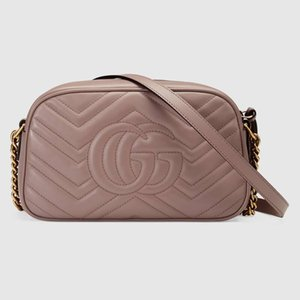 Top GUCCİquality designer GG Fashion Women Genuine Leather Marmont Shoulder Bag 443497 Purse handbags with series numbers Box