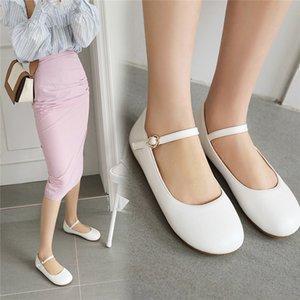 Mary Jane Shoes for Women Ballerina Flats Shoes Woman Casual Ballet Girls School Dress плоский розовый белый плюс размер 10 33 43