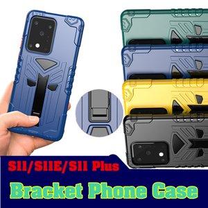Para Samsung S11 Phone Case TPU PC Suporte de tampa protetora Samsung Galaxy S11 Além disso S11E Anti-queda Armadura Voltar Fique Tampa